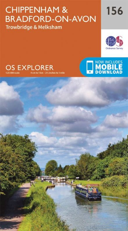 OS Explorer 156 - Chippenham & Bradford on Avon, Trowbridge & Melksham